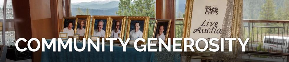 Community Generosity banner image